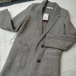Zara Wool Coat Gray